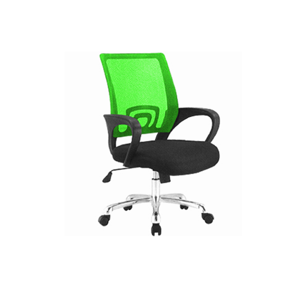 DUO-MESH-BACK-GREEN-CHAIR-WITH-WHEELS